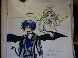 Cool Angel and Rowdy Devil(OCs) by NorthGuam