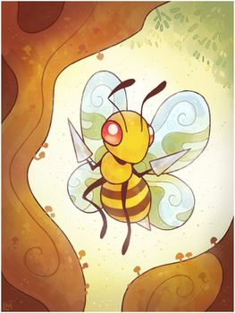 Pokemon #015 Beedrill by Louivi