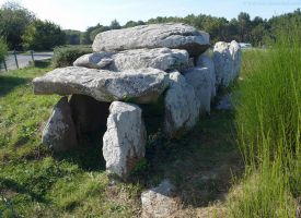 Neolithic Dolmen Tomb at Carnac by bobswin