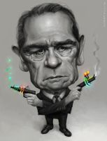 Tommy Lee Jones by KaceySchwartz