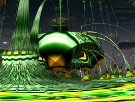 Lysergica - Approaching the Green Rave Dome by PhotoComix2