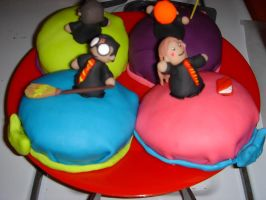Harry and Hermione cake by Evilwarlordgu