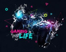 Joystick wallpaper - Gaming is life by StillFree88
