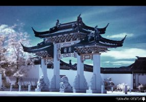 Chinese Garden IR 4 by shadowfoxcreative