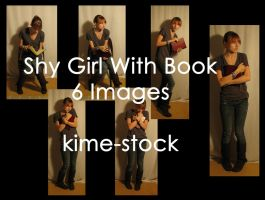 Shy Girl With Book by kime-stock