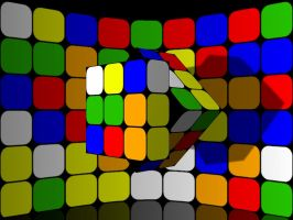 Rubik's Cube Wallpaper 01 by he4rty
