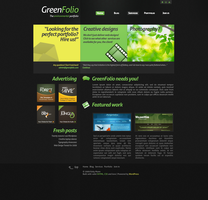 GreenFolio Template by Edmunn by WebMagic
