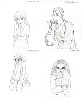 Sketches: 28th September - 1st October by hamichiru