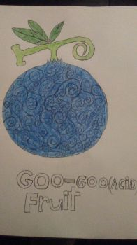 My one piece Devil Fruit: The Goo Goo Fruit by dragonsouloverlord5