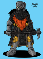 Helmed Dwarf war maiden by Shabazik