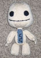 Knitted Sackboy by Geisha-Neko