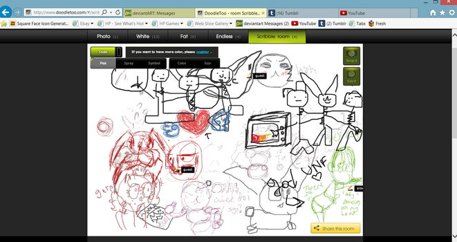 Having fun on DoodleToo with friends. by Newgrounds-People