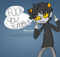 TUMBLR STOP BEING A DOUCHFUCK by princelupin