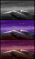 Mountains Sketch 1 by Max-CCCP