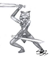 Another Ahsoka Sketch by Chrisily