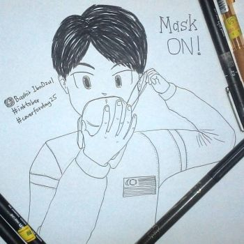 Inktober Day 25 : Mask On! by kahfi8
