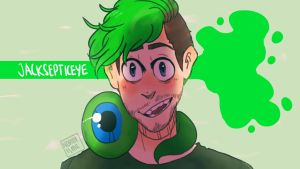 Went for the brain and out - jacksepticeye by NeLite-Art
