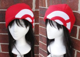 Pokemon X and Y Trainer Hat - Red and White by akiseo