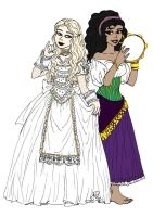 White Queen and Esmeralda by Lily-pily