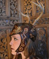 Celtic Queen Antler Headdress by SavagePunkStudio