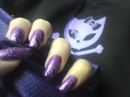 Purple nails by MorticiaVamp