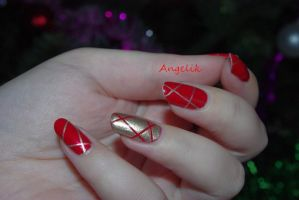 Nail art for Christmas 1 by Angelik23