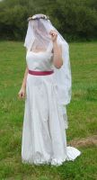 bride on a field - veil 3 by indeed-stock