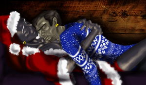 Jartemis Christmas Cuddle by sno4wy