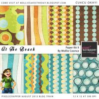 At The Beach - Paper Kit 02 by Mollie-Coonce
