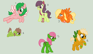 Fruit Ponies -closed- by Dulcet-Adopts