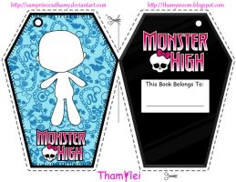 Monster High Bookmark Base by VamprincessThamy