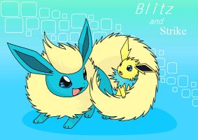 Request: Blitz and Strike by Bluekiss131