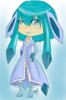 Glaceon Chibi Gijinka by doodlemehappy