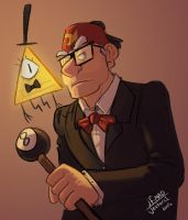 Grunkle Stan and Bill Cipher by MadJesters1