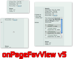onPageFavView v5 by chrisbouchard