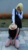 Luffy and Sanji (Female Version) by NamiOkamura