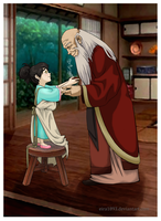 Grandpa Iroh and his Little Princess by Eira1893