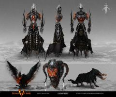 GOD OF ASHES model sheet by Gyorkland