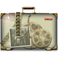 Steampunk AVI Folder with handle icon by yereverluvinuncleber