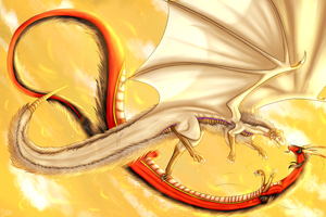 Dragon!RoChu - Upon The Golden Sky by Saya-Alphaling