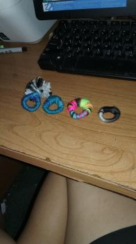 Rings made out of yarn by KiraComics2017