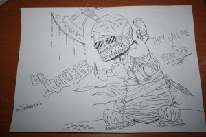 DR.HORIBLE LINE ART by catasthrophy