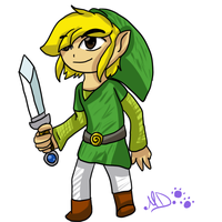 Toon Link drawing by dreamer-the-wolf-3