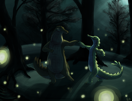 Dancin in the moonlight by red-anteater