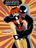 Mary Jane Watson Handgagged by Venom by TheOneAndOnlyCaptor