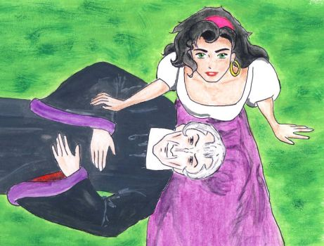 Do you want to be in my position? Frollo Esmeralda by traces-on-a-page