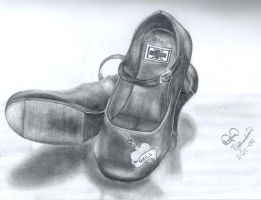 my rock shoes by paintitblack