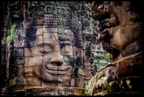 The Bayon - Faces by Dominion-Photography