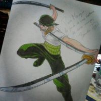 Roronoa Zoro - One Piece by EllizabethEller