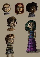 Character sketches with colour by Daniel-McCloskey